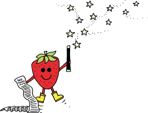 Vitaminnies character Cece the Strawberry has a long list of good things she can do for your body